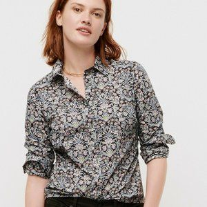 J.Crew Perfect Shirt in Liberty Sea Grass Floral 6